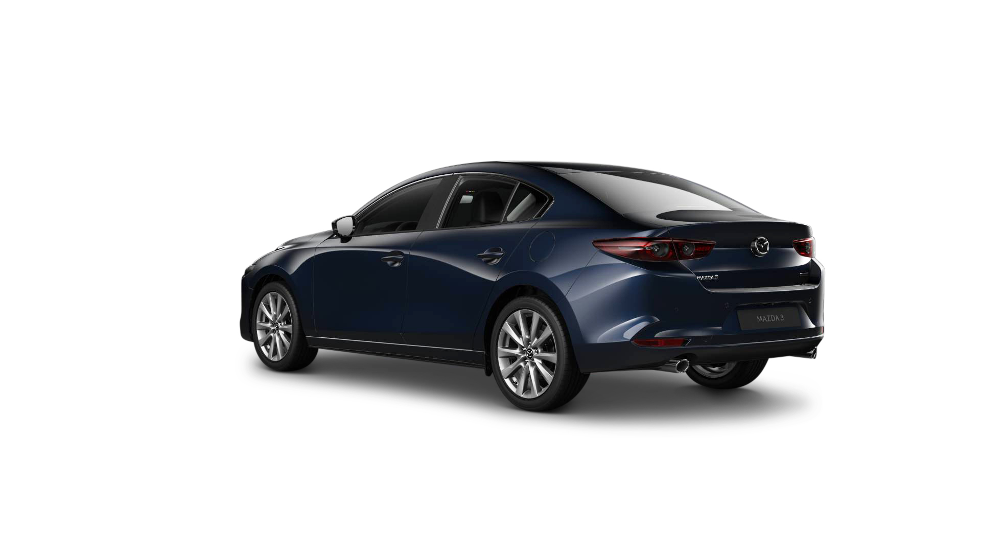 Mazda3 sedan deep crystal blue aftan